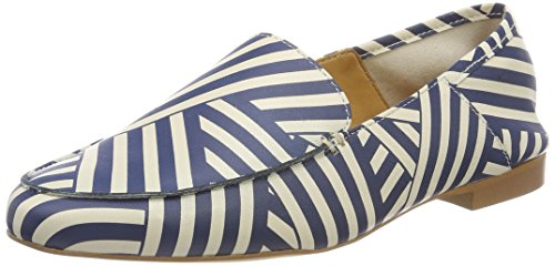 Para Liebeskind Multicolor Ink Mocasines stripe Lf183010 Goat Mujer Berlin Blue qScwSrCI