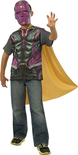 Rubie's Costume Avengers 2 Age of Ultron Child's Vision T-Shirt/Cape and Mask, Large]()