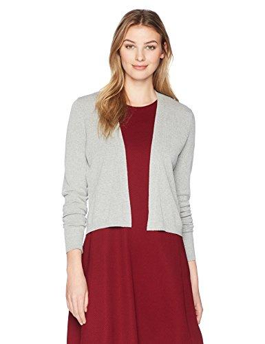 Lark & Ro Womens Lightweight Long Sleeve Cropped Cardigan Sweater