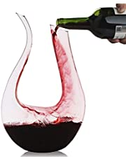 Wine Decanter, Lead-Free Crystal Glass, Hand-Blown Red or White Wine Decanter / Carafe, U Shape or Swan Shaped Decanter Design, Wine Best Mate (U Shape)