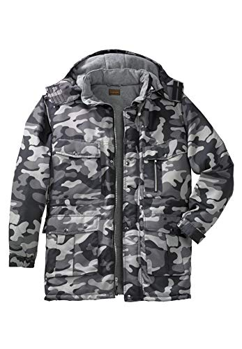 - Boulder Creek Men's Big & Tall Expedition Parka Coat, Steel Camo Big-3Xl