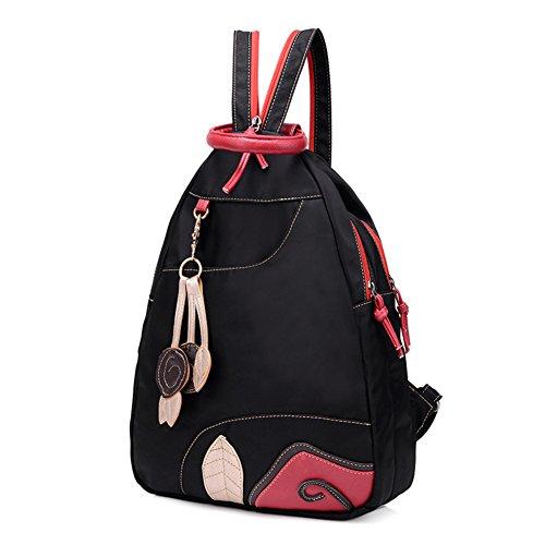 Damas bandoleras,bolso pecho,bolso de la lona,bolsa de viaje-negro negro