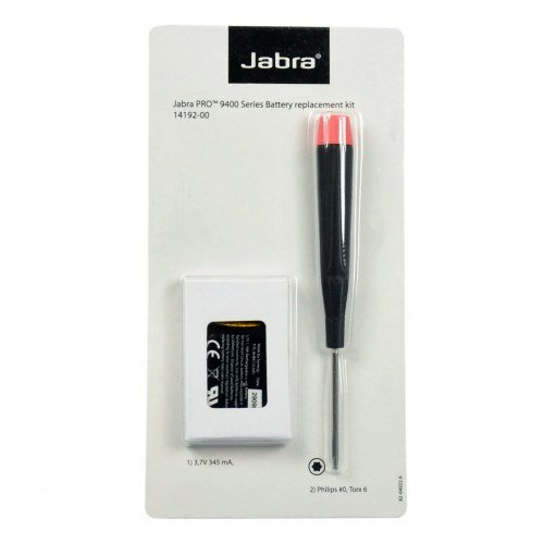 (Jabra Spare Battery Kit for Jabra PRO 9450, 9460, 9470 | Logitech BH970 Wireless Headset, 14192-00)