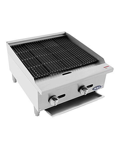 ATCB-24 Stainless Lava Rock Charbroiler Grill Char-Rock Broiler Natural Gas (24)