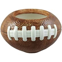 Accents & Occasions Ceramic Football Planter or Flower Arrangement Vase, 3-1/2-Inch