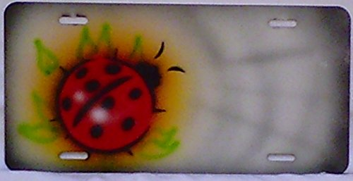 - Ladybug Gray Single Personalized Airbrushed License Plate Aluminum Georgee's Airbrush