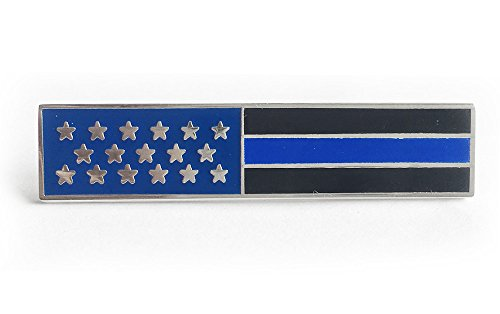 Police Officer USA US American Flag Unifom Medal Pin Bar Blue - American Flag Pin Bar
