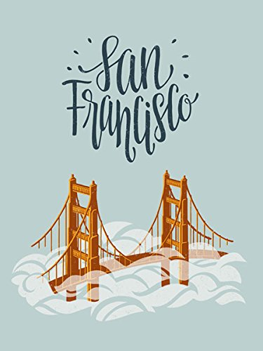 Gango Home Decor Beautiful San Francisco The City by The Bay Travel Poster; One 11x14iin Poster Print