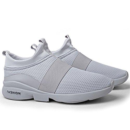 Herren on Damen LANYIER C Atmungsaktiv Turnschuhe Laufschuhe Sportschuhe Grau Leichte Sneaker Schuhe Wanderschuhe Slip Axq445wRZn