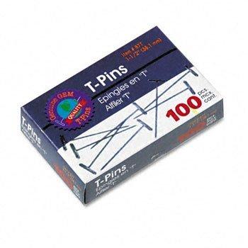 Advantus T-Pins CLIP,T-PIN,1.5'',100/BOX R330-12SSCY (Pack of30) by ADVANT