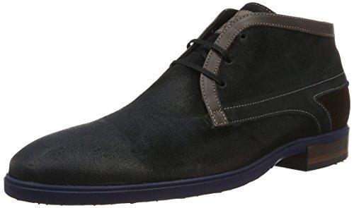 Floris van Bommel 10876/04, Zapatos de Cordones Derby para Hombre Azul