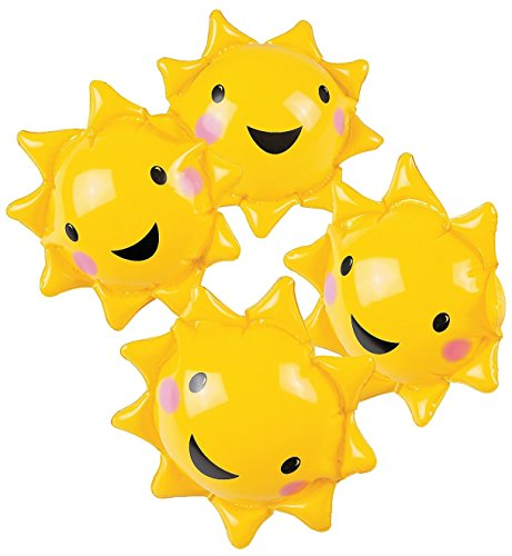 12 Inflatable Mini You Are My Sunshine Beach Balls (12 Pack) by CusCus