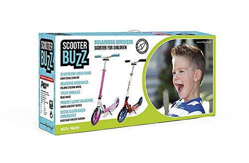 r/ésistante Couleur:Rose trottinette pour enfants /à partir de 6 ans BUZZ -Trottinette pour toute la famille capacit/é de charge 100 kg Trottinette de ville Kick Scooter pliable hauteur r/églable