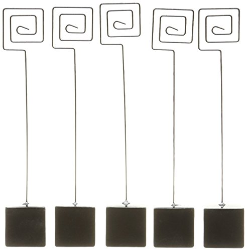 DARICE-DT41230D1-David-Tutera-Card-or-Table-Number-Holder-Cube-Base-7-Inch-Black-5-Per-Pack