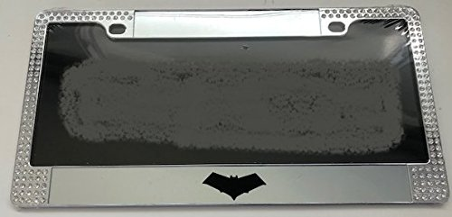 - RedHood Dark Knight Style - Limited Edition Chrome with Gems Automotive License Plate Frame - Red Hood