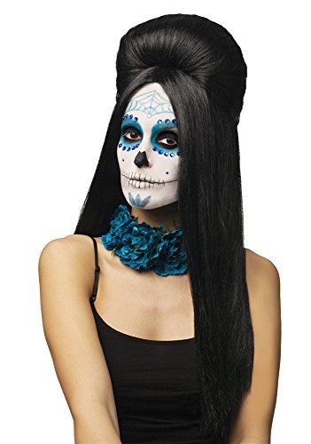 FunWorld Day of The Dead Costume Wig Adult Women -
