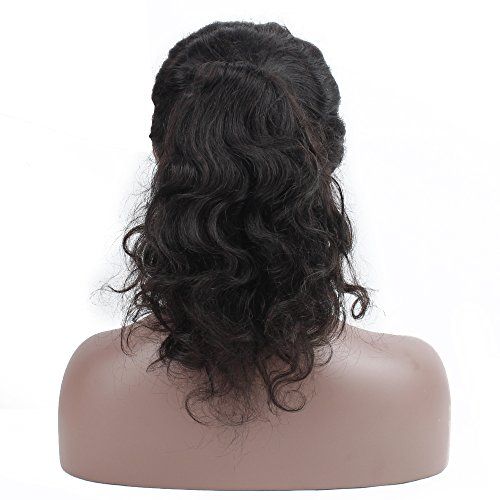 Queen Plus Body Wave 360 Lace Frontal Wig 180% Density Peruvian Virgin Hair Full Lace Cap Band Human Hair Wigs For Black Women Pre Plucked Hairline with Baby Hair (18inch) by Queen Plus Hair (Image #3)