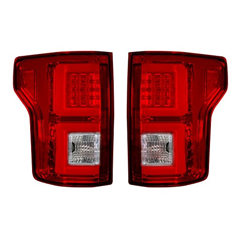 Recon 264268RD Ford F150 15-17 (replaces Oem Halogen Style Tail Lights) Led Tail Lights - Red - Recon F150 Ford Led