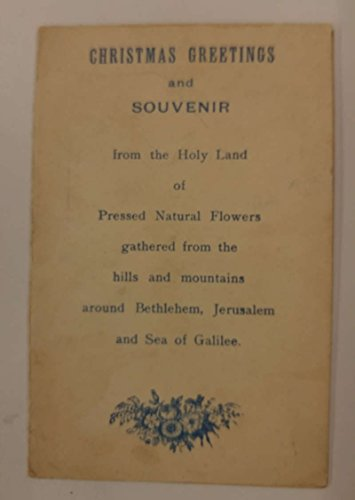 Bethlehem Jerusalem Christmas Greetings Pressed Flowers Song Card Novelty J68161