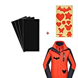 Fabric Repair Self-Adhesive Patches, Kicpot 4PCS Premium Permanent Self Adhesive Washable and Waterproof Patches for Down Jackets,Tent Clothes,Sleeping Bag (Black)