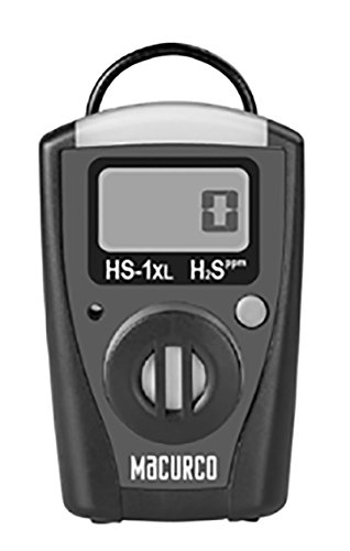 Macurco HS-1XL Hydrogen Sulfide H2S Single-Gas Monitor wi...