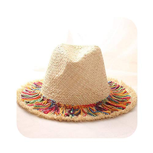 Wide Brim Straw Hat Summer Style Raffia Floppy Hat Foldable Frayed Paille Beach Panama Sun -