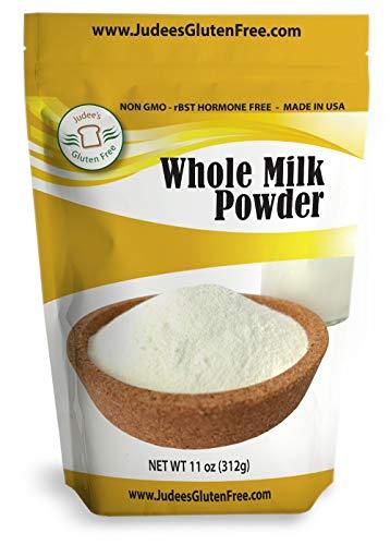 Judee's Whole Milk Powder (11 Oz): Non-GMO, Hormone Free USA Produced (Non-Fat Also Available)