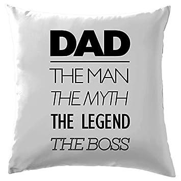 El hombre el mito la leyenda del Boss funda para cojín funda ...
