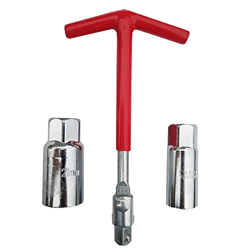 T-handle Spark Plug - Hetai T-handle Universal Joint Spark Plug Remover Installer Set 5/8