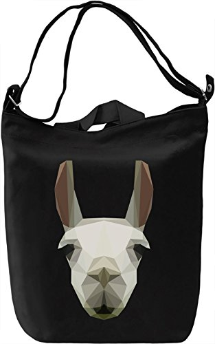 Llama head Borsa Giornaliera Canvas Canvas Day Bag| 100% Premium Cotton Canvas| DTG Printing|