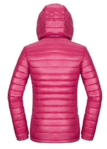 Jacket 3 EKU Hooded Women's Down Coat Light Weight Winter Short Packable Ultra TqzTxw