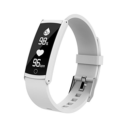 Glumes Bluetooth Smart Watch with heart Blood Pressure Test Heart Rate Monitor Touchscreen Wrist Watch Unlocked Waterproof Smart Watch for Android Samsung IOS Iphone Plus Men Women (White) by Glumes (Image #1)