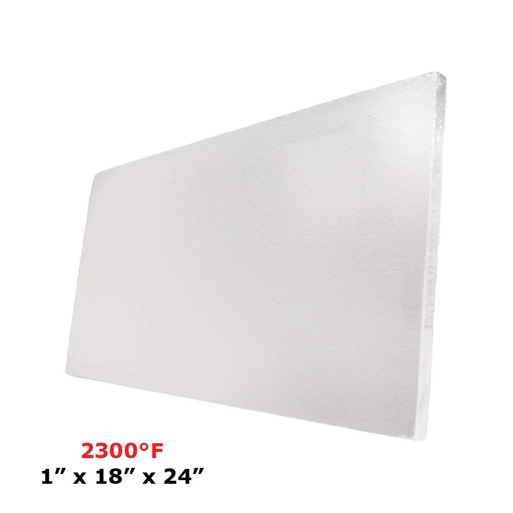 Thermal Insulation Board (2300F) (1 X 18 X 24) for Wood Ovens, Stoves, Forges, Kilns, Furnaces Spectra Overseas