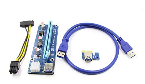 Fixable Pcie Powered Express Riser Adapter Latest Version 006C Usb 3.0 Cable 60cm With 6-Pin To Sata Powered Cable