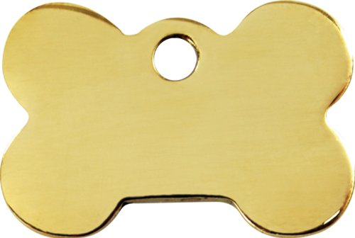 Brass Bone Pet Id Tag – Size Medium, My Pet Supplies