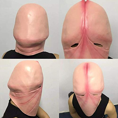 Costume For Your Penis (Funny Latex Head Mask Halloween Prank Joking 3D Penis Dick Party Cosplay)