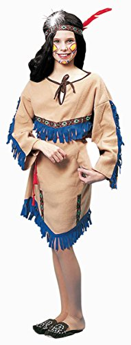 Forum Novelties Deluxe Native American Princess Costume, Child (Squaw Costumes)