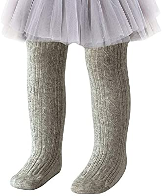 Jacquis Baby Girls Ribbed Cotton Knit Tights