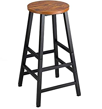 Mr IRONSTONE Pub Height Barstool Rustic Brown Bar Stool, 27.7 Pub Dining Height Stools Vintage Bistro Table Chairs Indoor USE ONLY