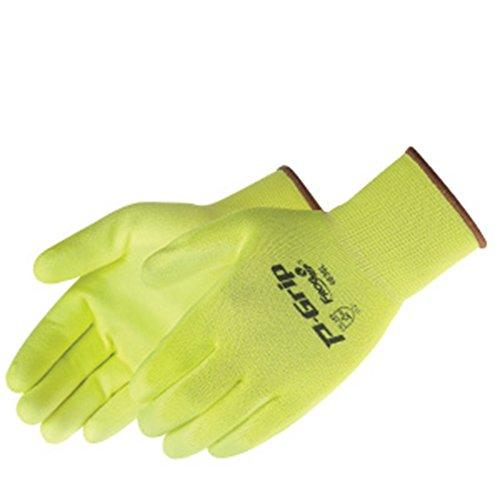 P-Grip Ultra-Thin Polyurethane Palm Coated, Fluorescent Yellow Glove, MD, 12/pr