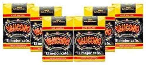 Cafe Yaucono Ground Puerto Rican Coffee 6 Pack (14 Ounces)