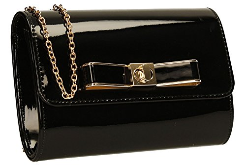 Bag Holograph Prom Shiny Black Ladies Party Ozcar Mettalic SWANKYSWANS Clutch Womens oOx7p5o8wq