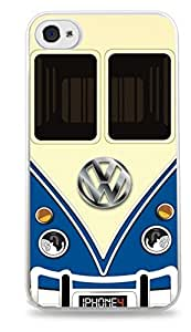 Blue Vw Bus White Silicone Case for iPhone 6 Plus (5.5 inch) i6+