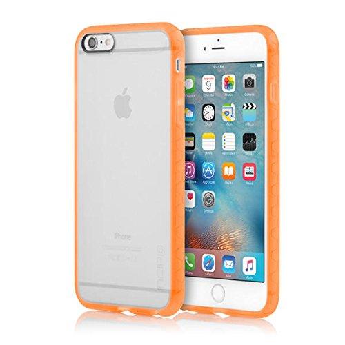 iPhone 6S Plus Case, Incipio Octane Case [Shock Absorbing] Cover fits Apple iPhone 6 Plus, iPhone 6S Plus - Frost/Neon - Orange Plus Case Neon Iphone 6