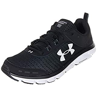 Under Armour mens Charged Assert 8 Running Shoe, Black/White, 13 X-Wide US