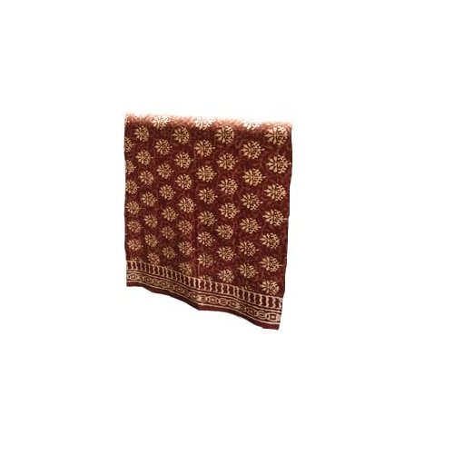 Abigails Bali Batik Large Brick and Beige Fern 72-Inch  by 108-Inch  Tablecloth - Bali Batik Tablecloth