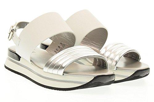 HOGAN zapatos de las sandalias H257 HXW2570X750EZ50906 BAND Blanco / plata