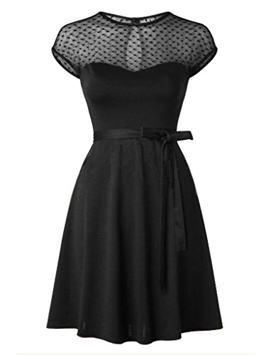 Blooming-Jelly-Womens-Retro-50s-Style-Swing-Dress-Black