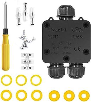 Cajas de Empalmes,IP68 Caja de Conexiones Impermeable Eléctricas para 4 mm-14 mm Diámetro del Cable,Conector Exterior Cable (1 Pack): Amazon.es: Bricolaje y herramientas