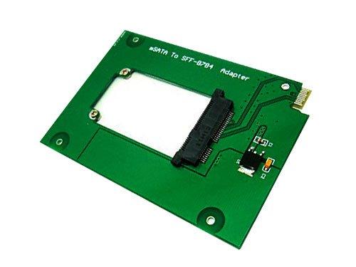 QNINE mSATA a SFF8784 Adaptador convertidor, Mini PCIe SATA SSD funciona como WD5000 WD5000MPCK WD5000M22K WD5000M21K Re